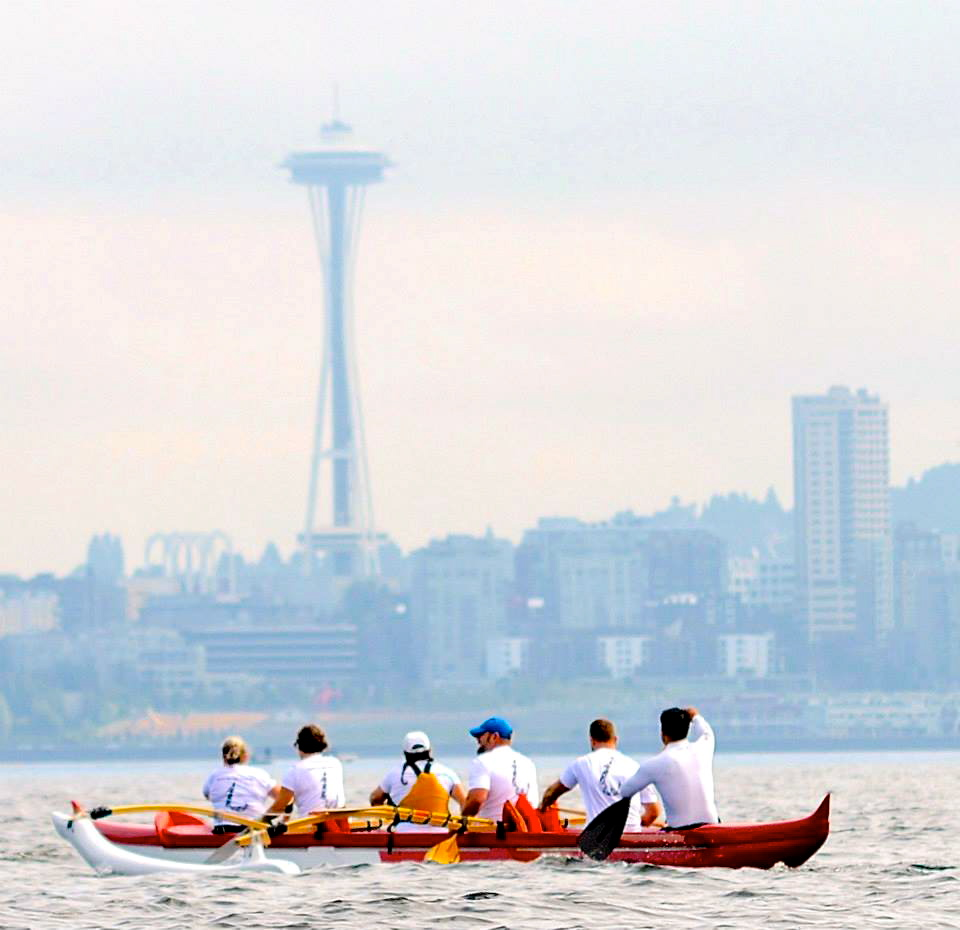 Great photo of CROCC crew and the Space Needle